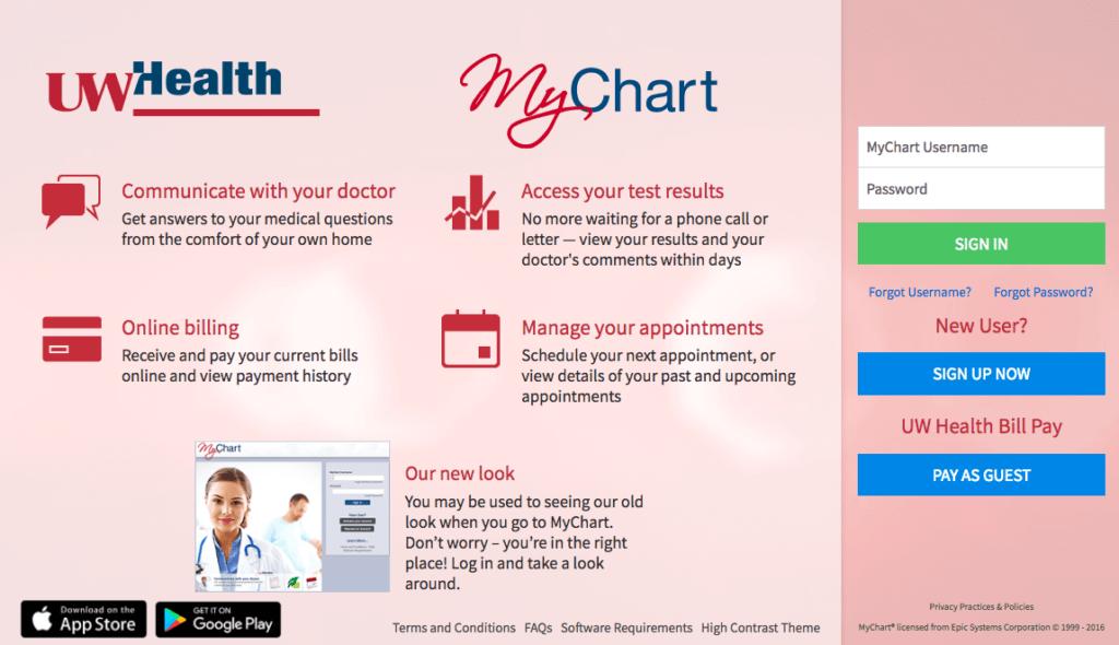 UW-Health-MyChart
